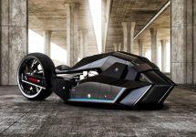 Conceptul BMW Titan este rupt din filmele SF; Iată cum arată motocicleta SF inspirată de un rechin