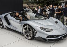 O nouă supermașină exotică este lansată la Pebble Beach; Lamborghini Centenario Roadster este îmbăcat complet în fibră de carbon și vine în ediție limitată