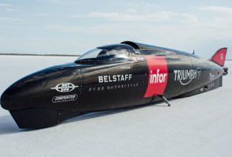 Cel mai rapid vehicul Triumph depășește viteza de 440km/h la Bonneville
