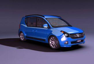 Dacia Multiplu: un concept de monovolum ce în sfârşit vine cu un design acceptabil
