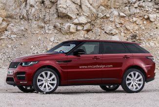Range Rover Sport Coupe primește noi randări după ce a fost văzut în teste în Germania