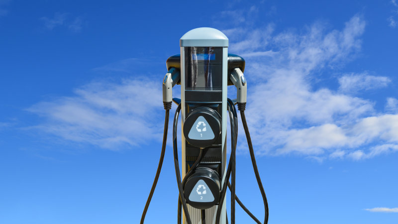 stock-photo-charging-station-for-zero-emission-cars-on-cloudy-sky-background-infrastructure-for-green-432700363