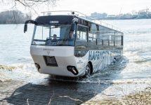 Iată cel mai bun mod de a vizita orașul Hamburg; Autobuzul amfibiu german devine realitate după aproape 18 ani