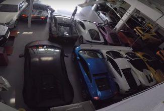 Un dealer american a protejat mica colecție de supermașini Lamborghini la limită, de uraganul Matthew (Video)