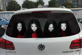 Şoferii din China folosesc fantome pentru a îi descuraja pe cei care abuzează farurile/fază lungă