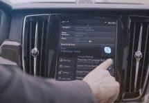 Automobilele de top de la Volvo vor veni cu Skype integrat, dar şi Cortana pe viitor