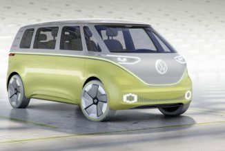 Volkswagen I.D. Buzz este un microbuz electric concept cu faruri LED, condus autonom