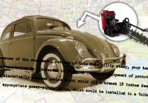 CIA a produs variante speciale de Volkswagen Beetle care săpau şanţuri, montau echipamente de spionaj
