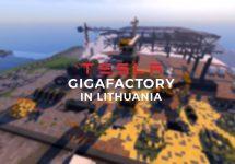 Lituania încearcă să atragă Tesla să construiască o fabrică în ţara lor, creând un Gigafactory în Minecraft (Video)