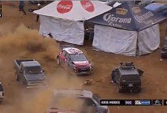 Un pilot de rally WRC se pierde în parcare fix la finalul cursei, dar reuşeşte să o câştige totuşi (Video)
