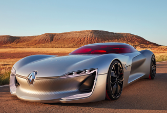 Renault Trezor este o supermaşină electrică, numită cel mai arătos automobil concept din ultimul an