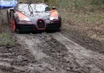 Viralul zilei: cum se descurcă un Lamborghini offroad, la bătaie cu un Bugatti şi LaFerrari (Video)