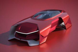 Dacia EF-Vision 2050 este un concept futurist de maşină Dacia, care arată ca o navetă spaţială